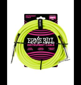 Ernie Ball Instrument kabel 7.6 m geel