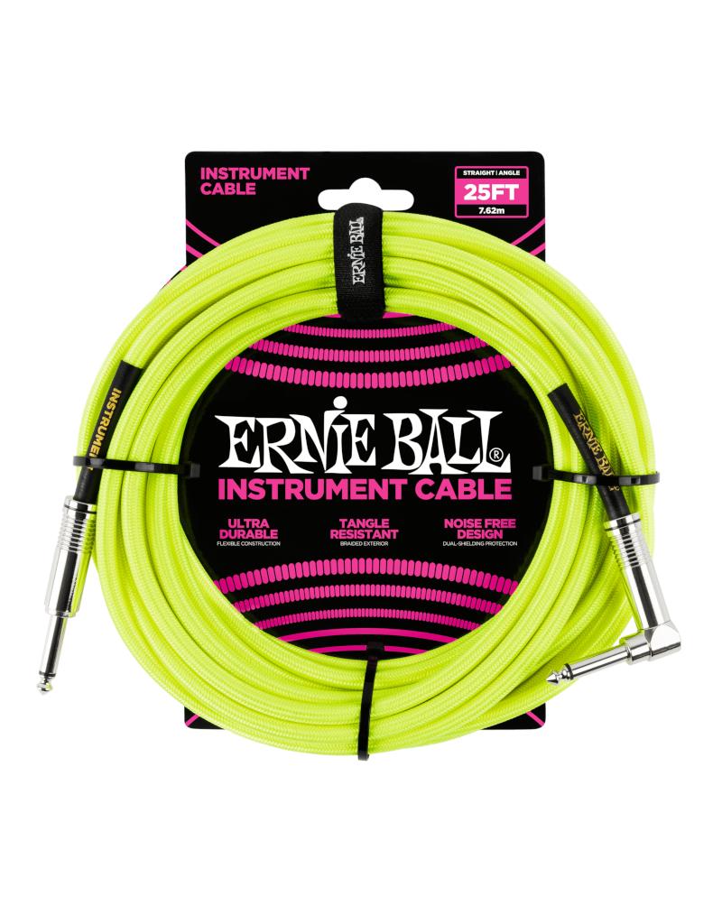 Ernie Ball 6057 Instrument kabel 7.6 m geel