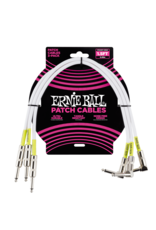 Ernie Ball 6056 Patch cable right angle 46 cm (1.5FT) 3-pack white