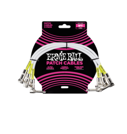 Ernie Ball Patch kabel 30 cm 3-pack wit