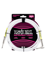 Ernie Ball 6049 Instrument cable straight/right angle 3 m (10FT) white