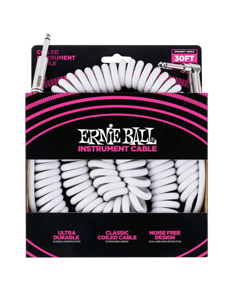 Ernie Ball 6045 Instrument cable 9 m (30FT) coiled white