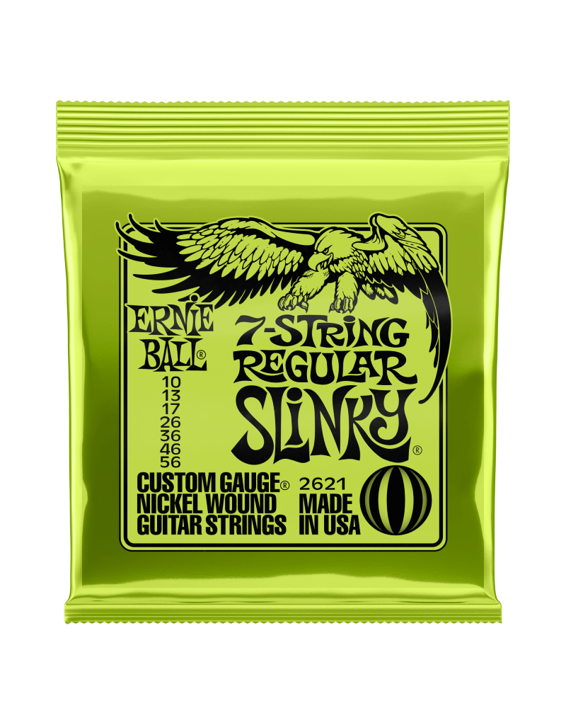 Ernie Ball 2623 Regular slinky 7-snarig electric guitar strings 010-056