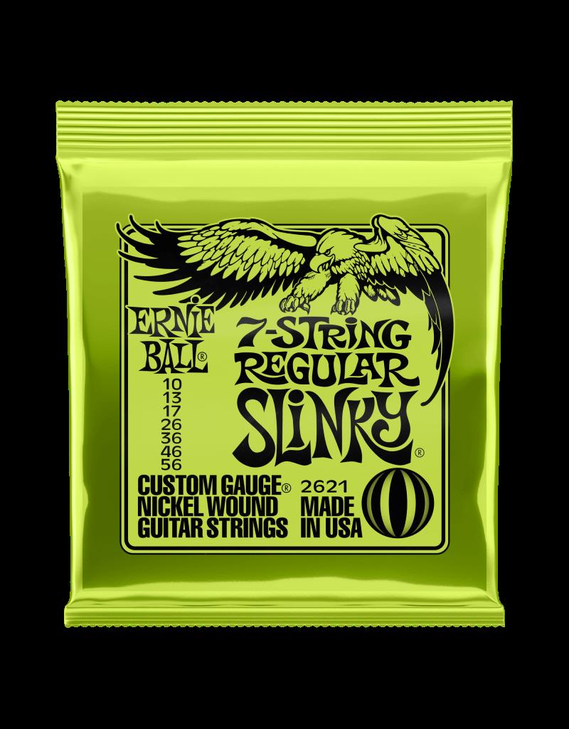 Ernie Ball 2623 Regular slinky 7-snarig elektrisch gitaar snaren 010-056
