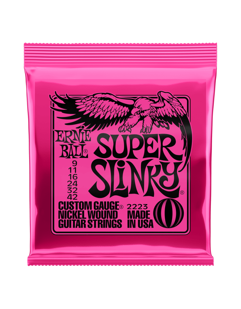 Ernie Ball 2223 Super slinky electric guitar strings 009-042