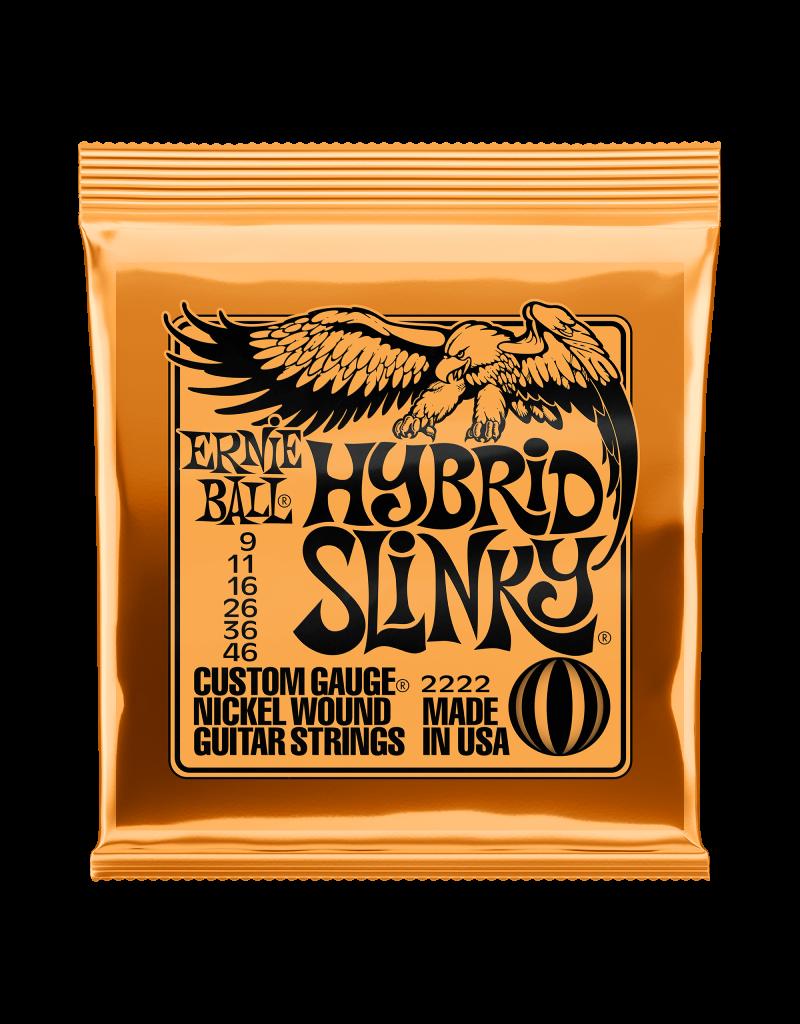 Ernie Ball 2222 Hybrid slinky electric guitar strings 009-046