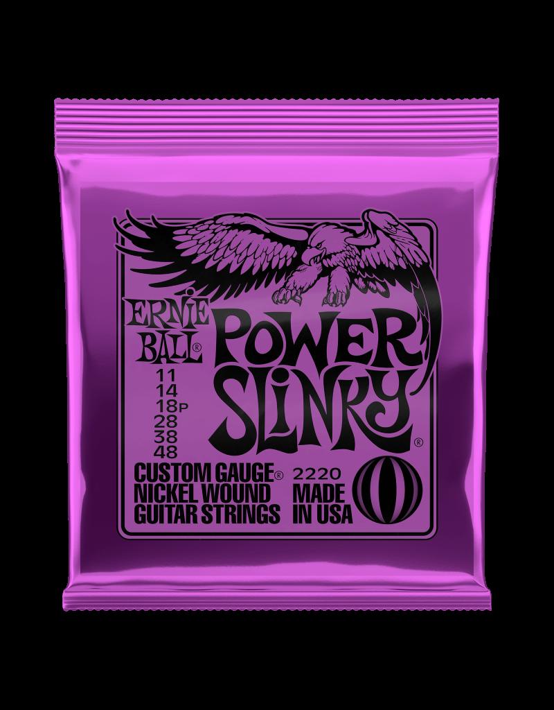 Ernie Ball 2220 Power slinky electric guitar strings 011-048