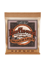 Ernie Ball 2146 Earthwood phosphor bronze acoustic medium light guitar strings 012-054