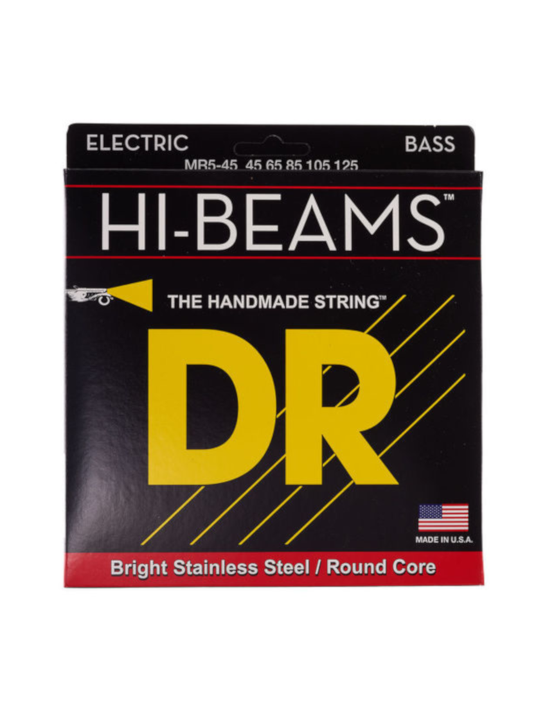 DR MR5-45 Hi-beams medium 5-string bass guitar strings 045-125