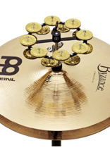 Meinl HTHH2B-BK Hi-hat double tambourine with brass jingles