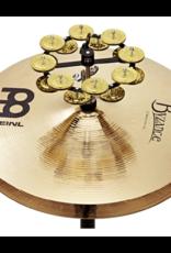 Meinl HTHH2B-BK Hi-hat dubbele tambourine met messing jingles