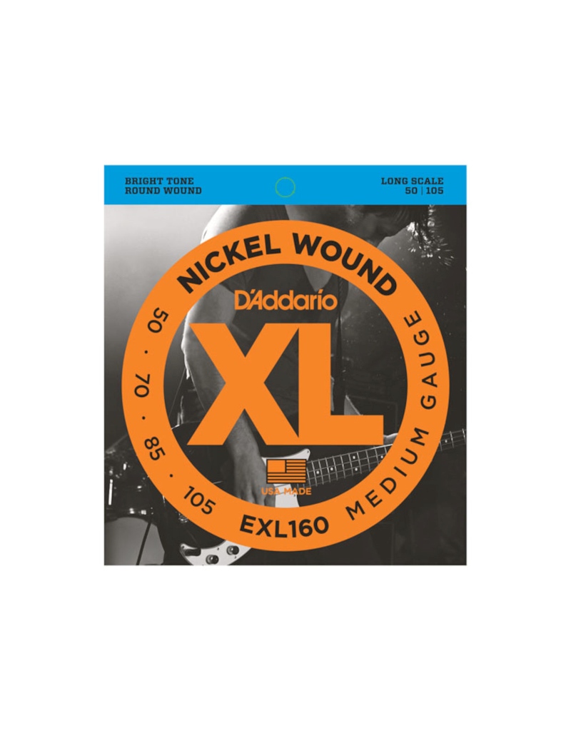 D'addario EXL160 Long scale bass guitar strings 050-105