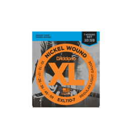 D'addario Electric guitar strings 7-string 010-059