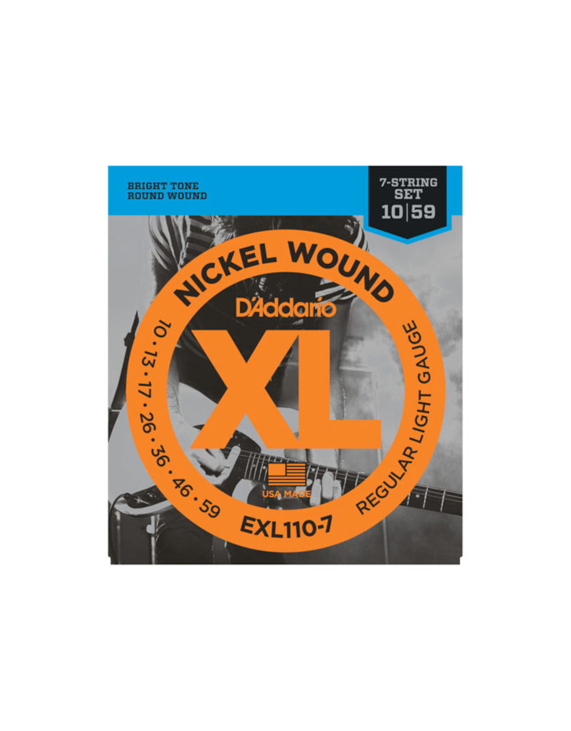 D'addario EXL110-7 Regular light 7-string electric guitar strings 010-059