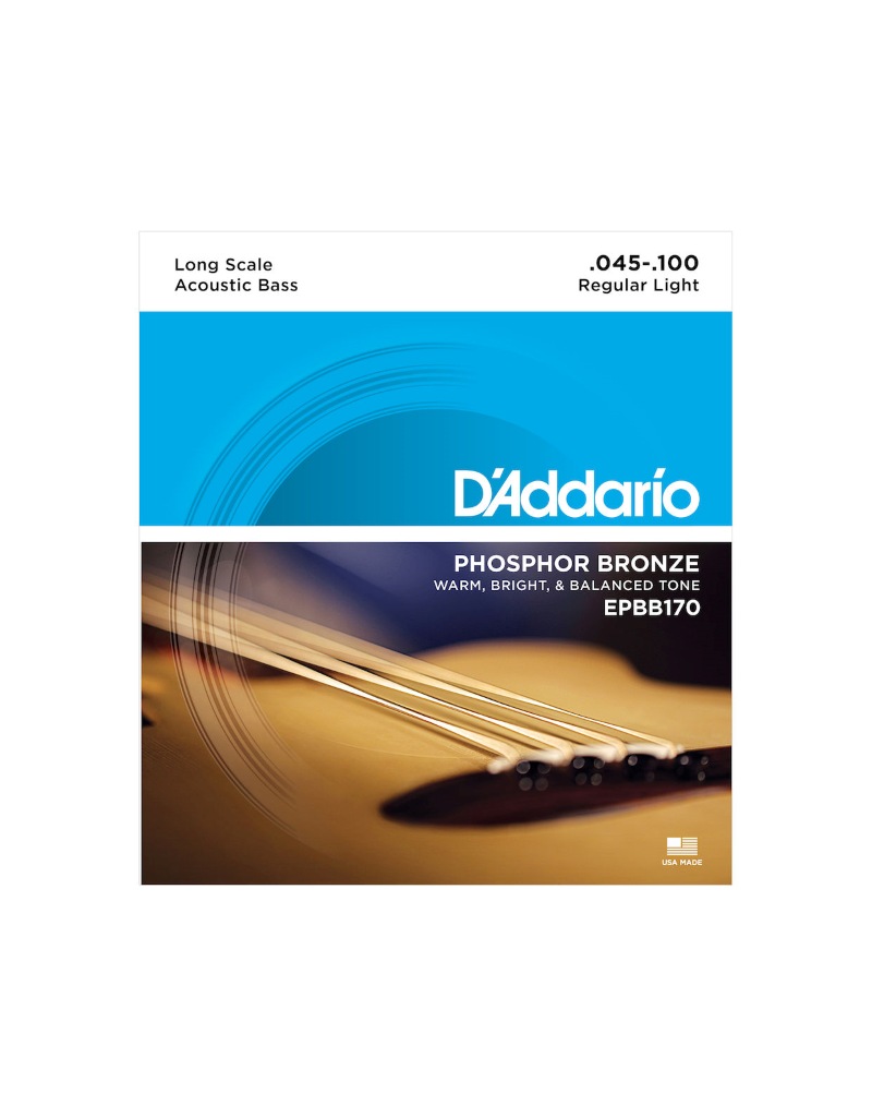 D'addario EPBB170 Acoustic bass guitar strings 045-100