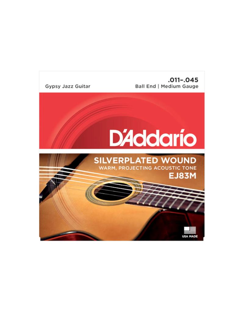 D'addario EJ83M Medium gypsy jazz guitar strings 011-045