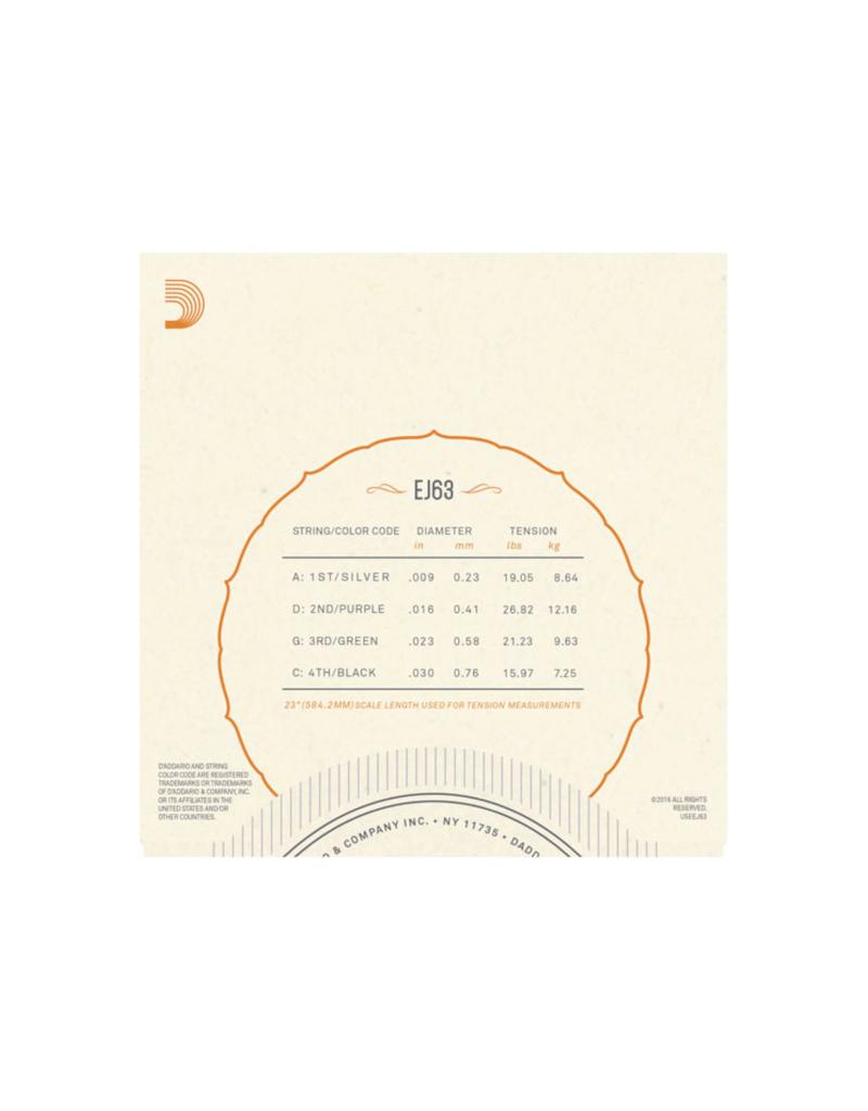 D'addario EJ63 Light banjo snaren 009-030