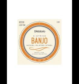 D'addario EJ61 5-string banjo strings 010-023