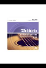 D'addario EJ26 Custom light acoustic guitar strings 011-052