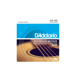 D'addario EJ16 Acoustic guitar strings 012-053