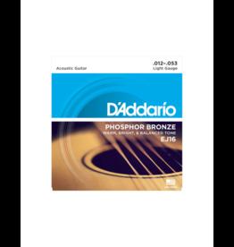 D'addario EJ16 Akoestisch gitaar snaren 012-053