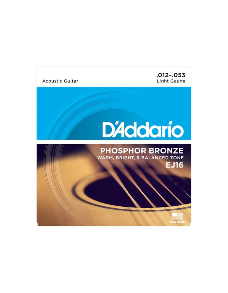 D'addario EJ16 Light acoustic guitar strings 012-053