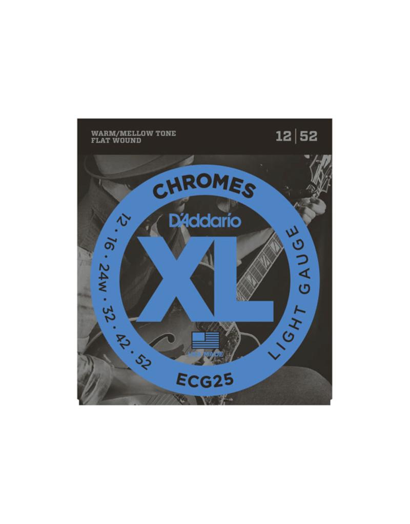 D'addario ECG25 Light chromes jazz guitar strins 012-052