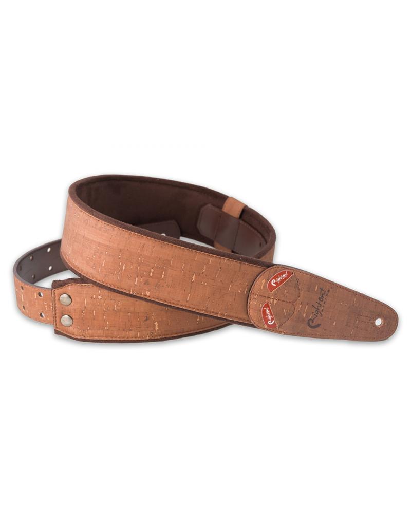 RightOn! Cork brown guitar strap