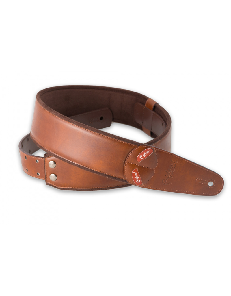 RightOn! Charm brown guitar strap