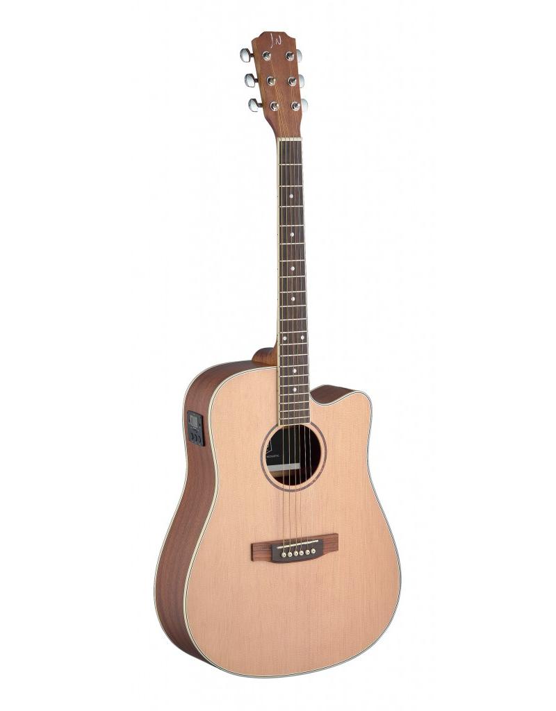 J.N. Guitars ASY-DCE Akoestisch/elektrisch gitaar