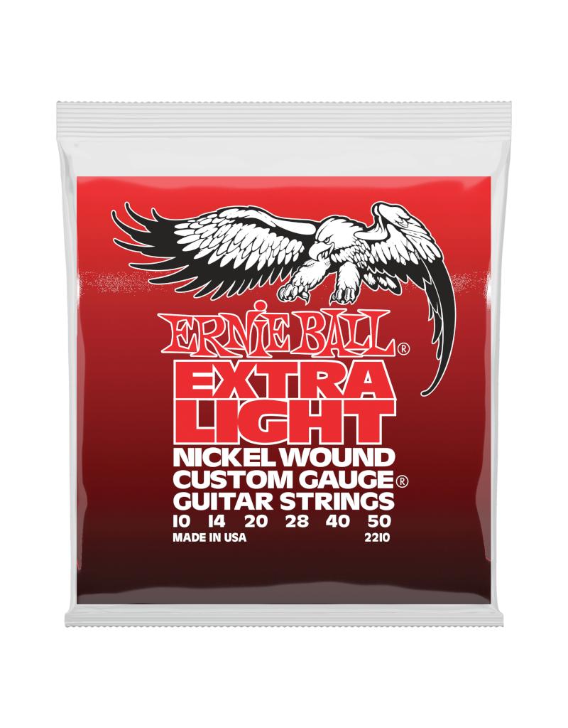 Ernie Ball 2210 Extra light elektrisch gitaar snaren 010-050