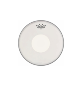 "Remo controlled sound coated white dot 14"" drumvel"