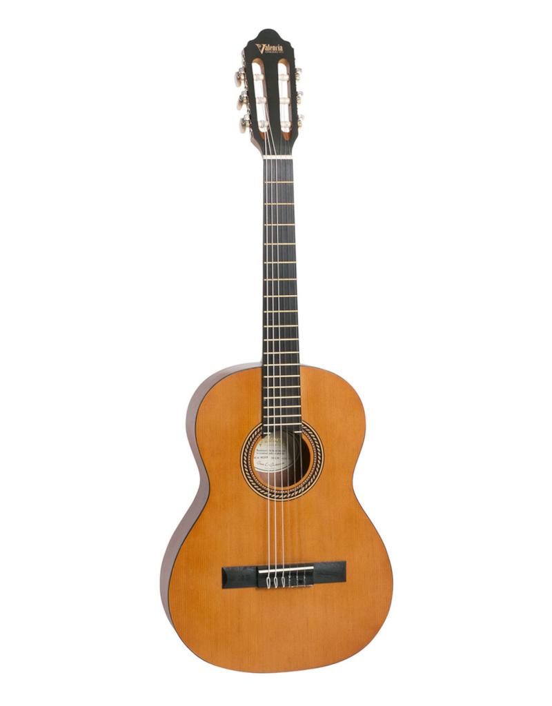 Valencia VC204H Klassiek gitaar met hybride neck antique natural