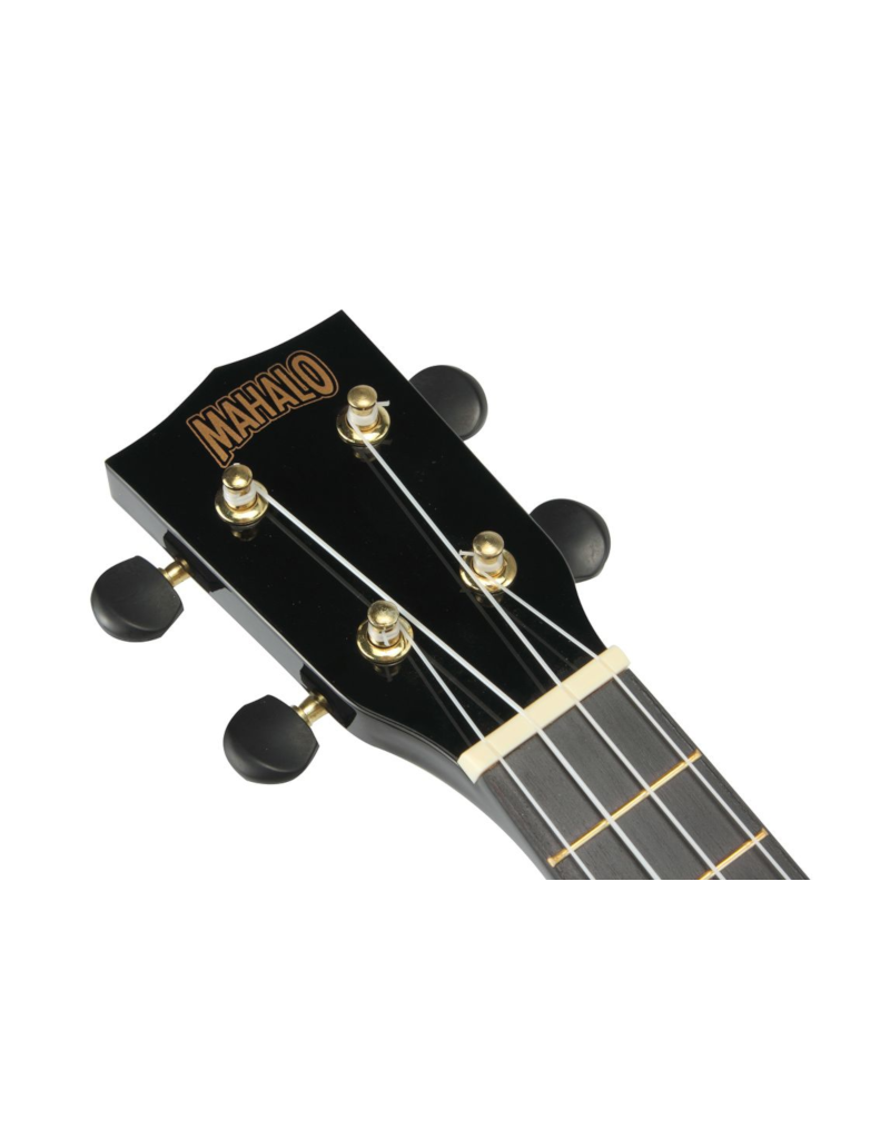 Mahalo MR1 BK soprano ukulele transparent black