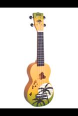 Mahalo MD1HAGNB soprano ukulele Hawaii green burst