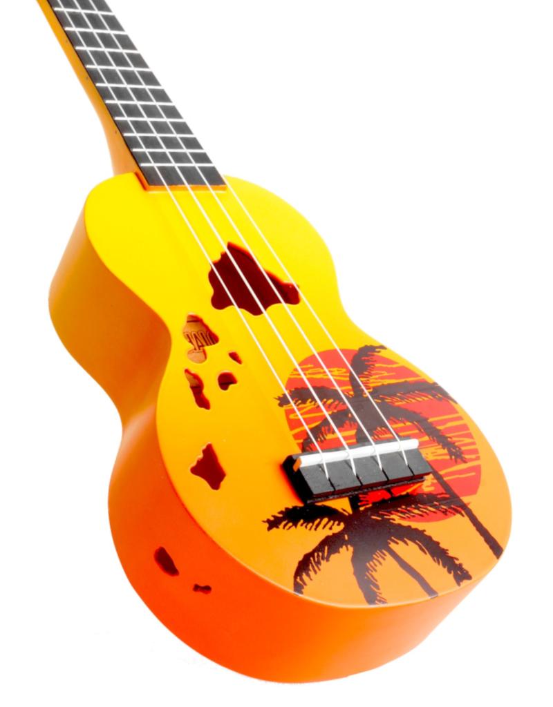 Mahalo MD1HAORB sopraan ukelele Hawaii oranje burst