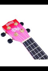 Mahalo MD1HBRDB soprano ukulele hibiscus red burst