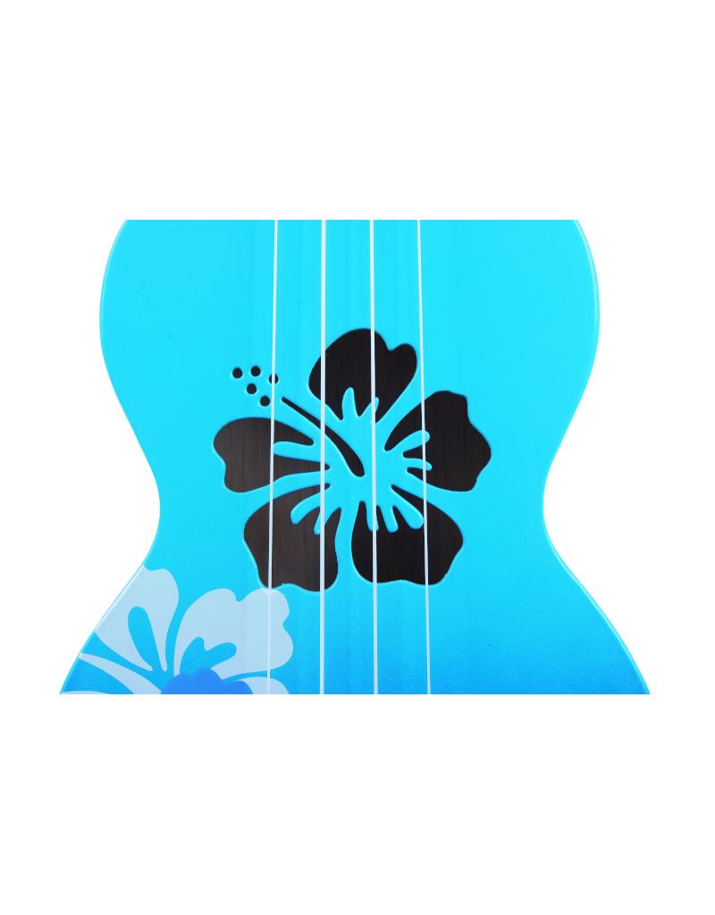 Mahalo MD1HBBUB soprano ukulele hibiscus blue burst
