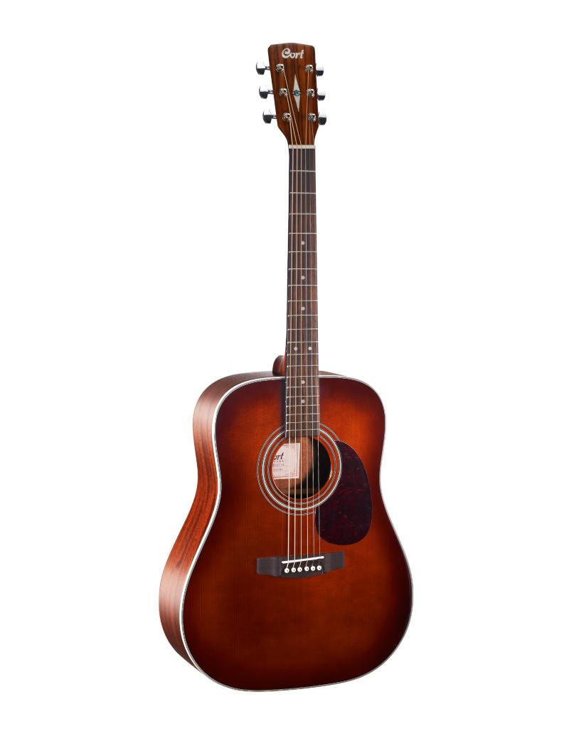 Cort EARTH70 BR Akoestische gitaar bruin hoogglans top