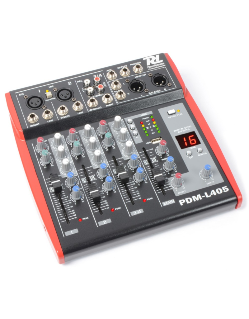 Power Dynamics PDM-L405 4-channel mixer