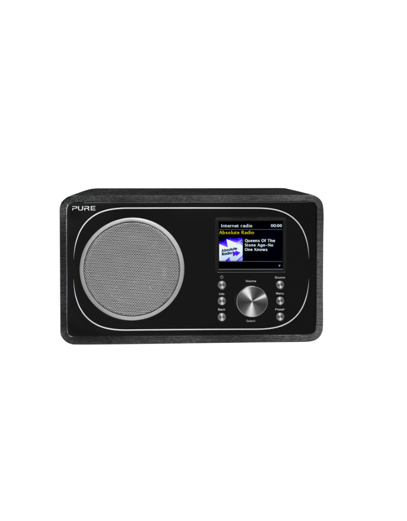 Pure Evoke F3 Dab/internetradio with spotify connect and bluetooth black