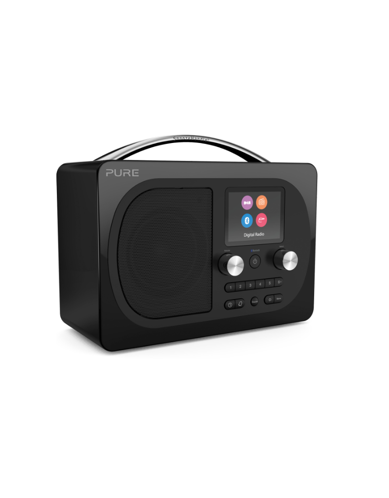 Pure Evoke H4 Prestige Dab/FM radio with bluetooth black