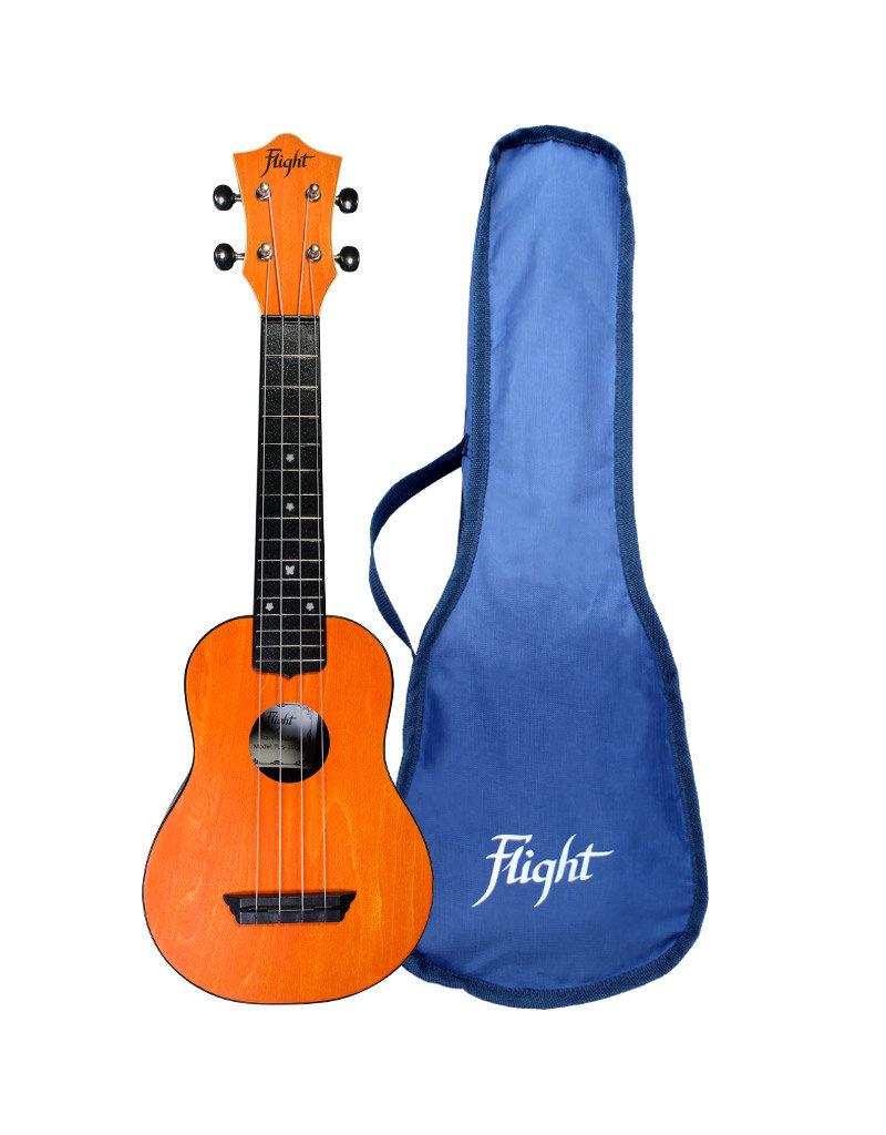 Flight TUS35 Travel oranje sopraan ukelele