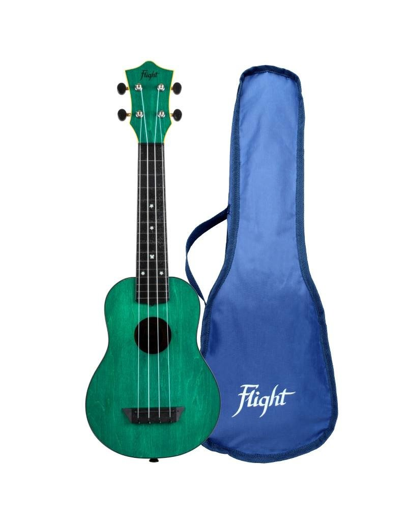 Flight TUS35 Travel green soprano ukulele