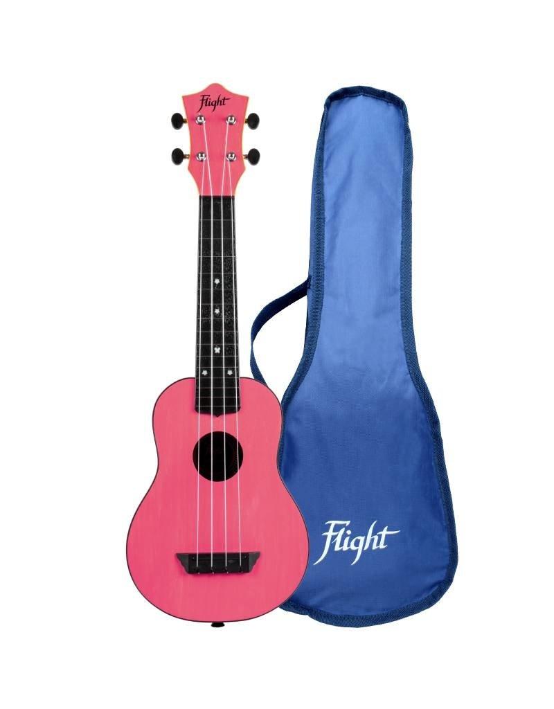 Flight TUS35 Travel roze sopraan ukelele