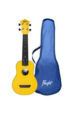 Flight TUS35 Travel yellow soprano ukulele