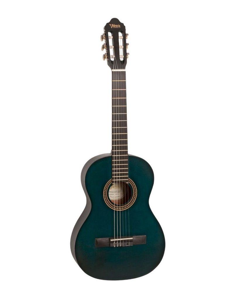 Valencia VC204 Classical guitar transparent blue