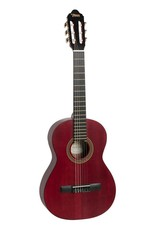 Valencia VC204 Klassiek gitaar transparant rood