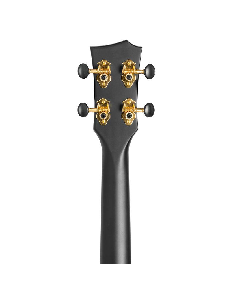 Cascha HH2258 Carbon fibre black concert ukulele