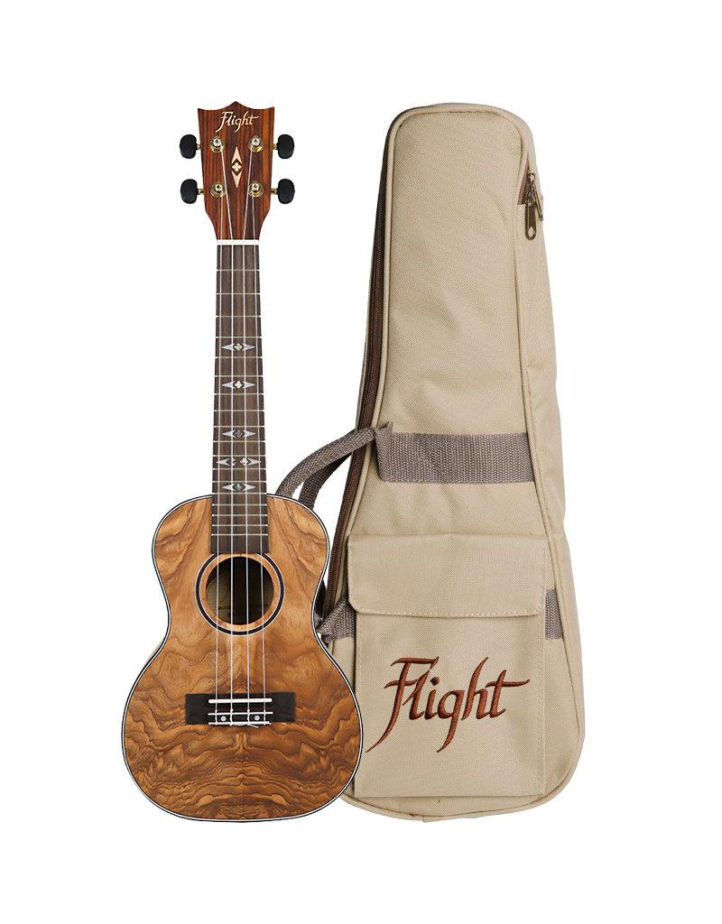 Flight DUC-410 Supernatural Quilted Ash concert ukelele